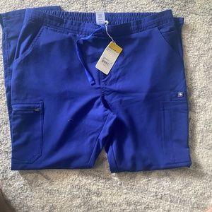 Figs Royal Blue Yola Scrub Pants size Large
